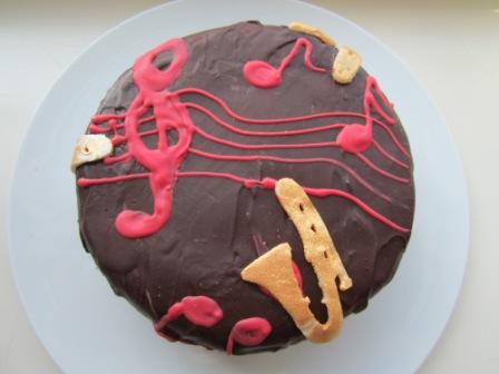 Musik Sandkuchen mit Schokocreme