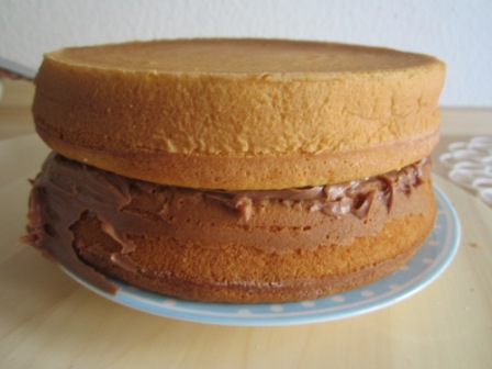 Musik Sandkuchen mit Schokoladencreme