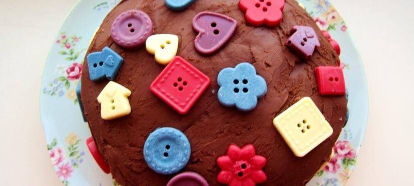 Blaubeerkuchen mit Schokoladencreme