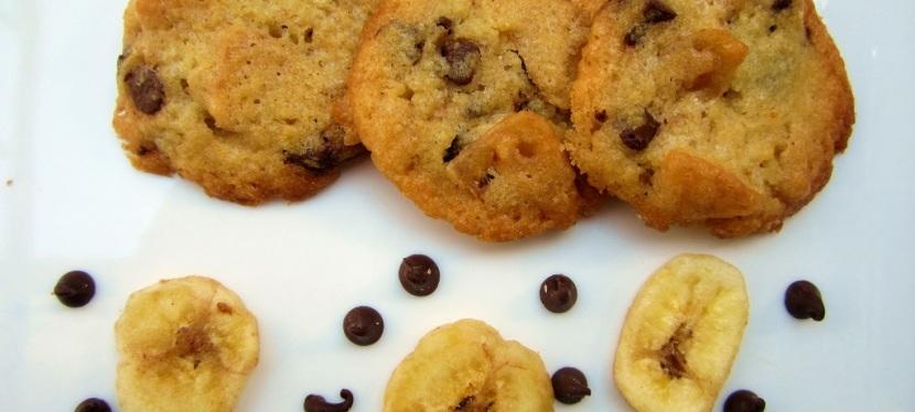 Schoko-Banane Cookies