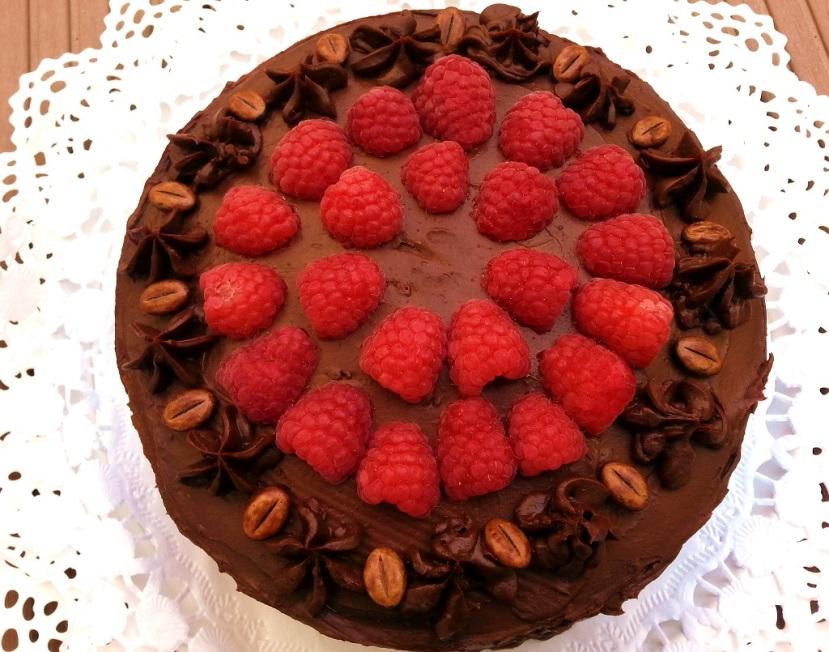 Himbeer-Mokka Torte
