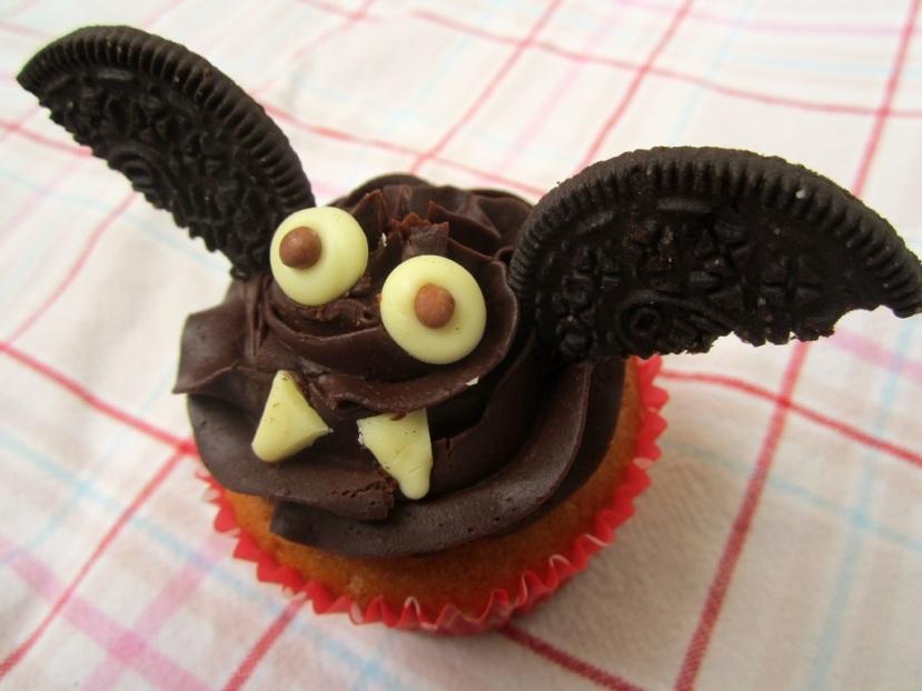 Fledermaus Cupcakes (Halloween)