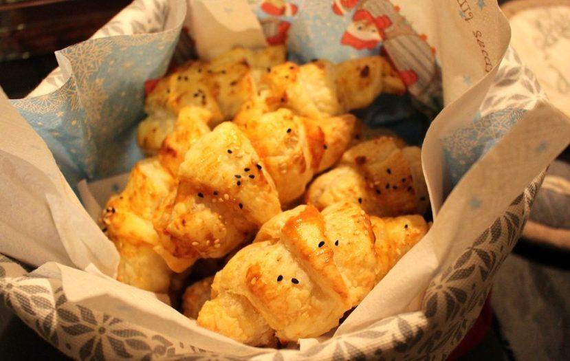 Käse-Tomaten Croissants
