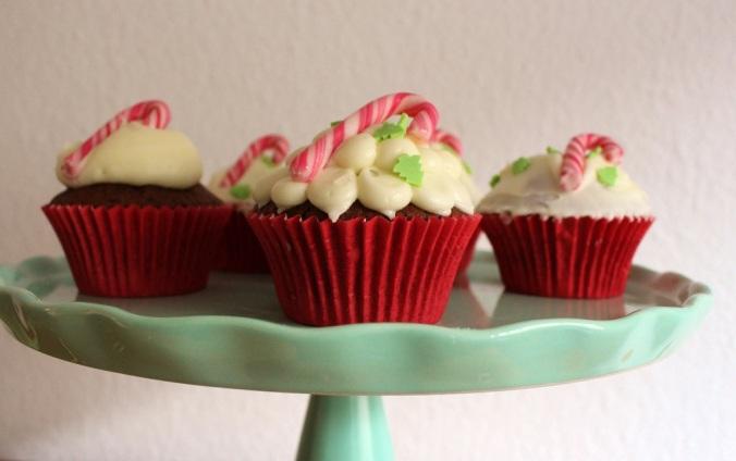 Zuckerstange Cupcake Candycane