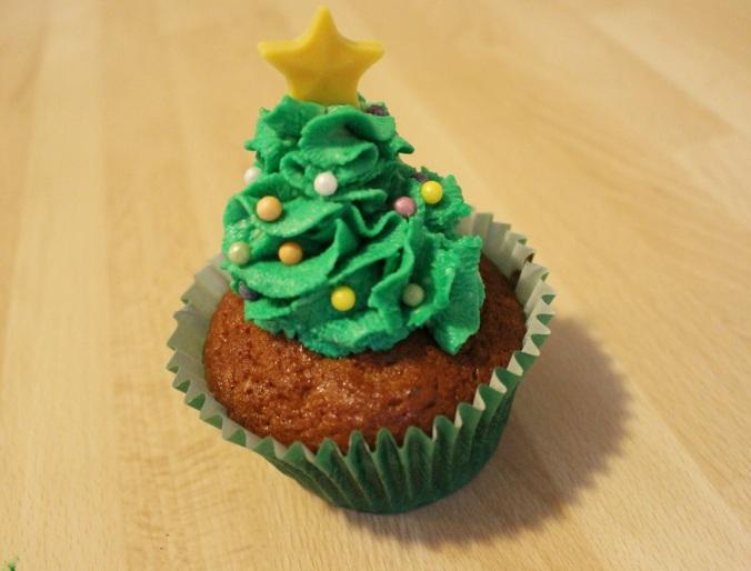 Weihnachten Cupcakes Weihnachtsbaum (1)