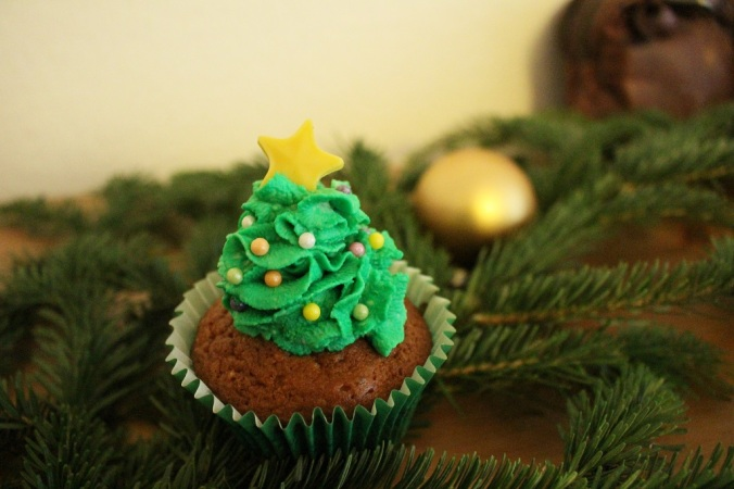 Weihnachten Cupcakes Weihnachtsbaum (2)