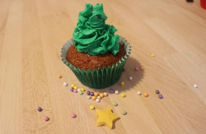 Weihnachten Cupcakes Weihnachtsbaum (5)