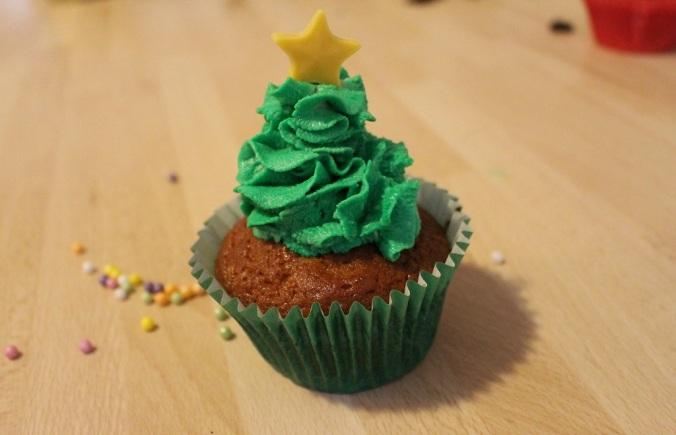 Weihnachten Cupcakes Weihnachtsbaum (6)
