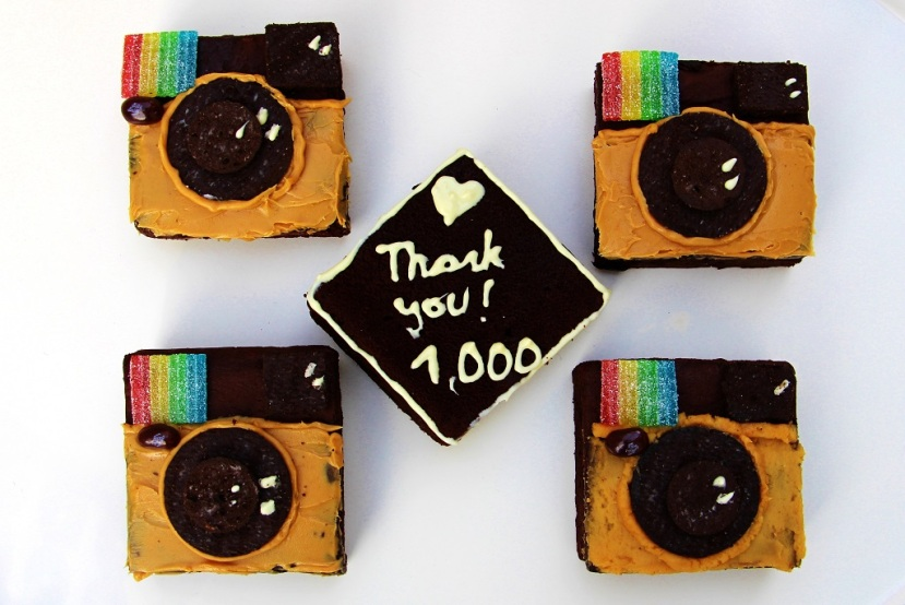 Instagram Brownies: 1.000 Follower!