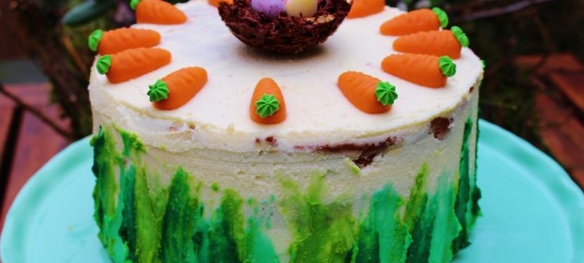 Möhren Torte mit FrischkäseCreme