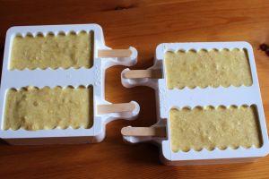 Kuchen Eis am Stiel mit Silikonform