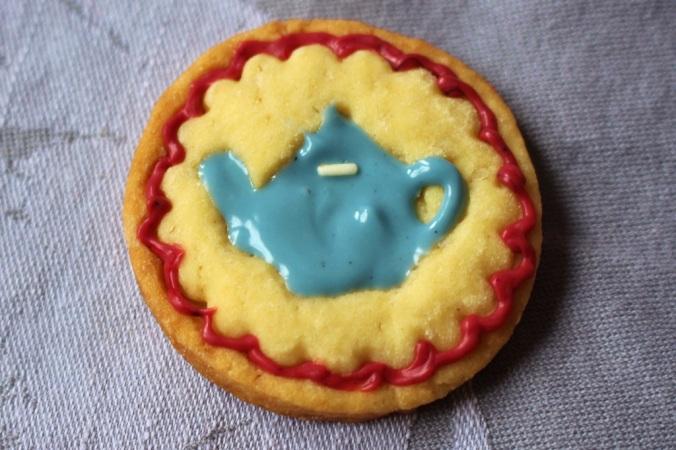 Stempel Keks mit Teekanne. Der weiße Teil ist ein Streusel:-)