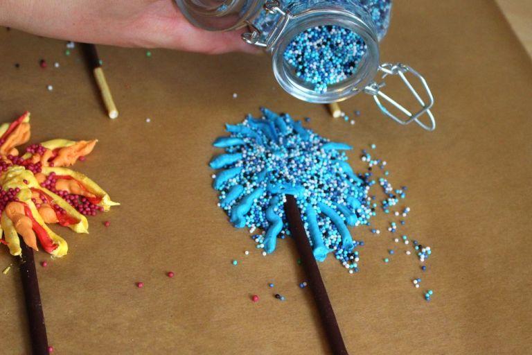 Tipp: Ton in Ton ist für Streusel und Feuerwerk ein sehr schöner Effekt.