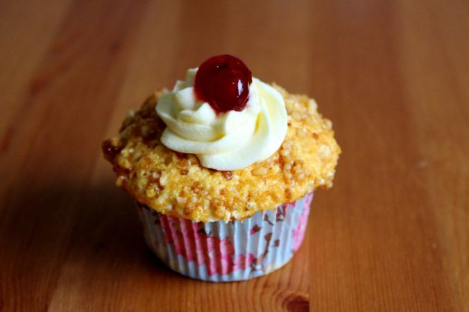 Fertig ist er - der köstliche Frankfurter Kranz Cupcake.