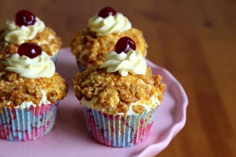 Kleiner Tipp: Die Cupcakes lassen sich genau so im Ganzen hervorragend einfrieren.