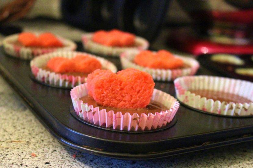 Versteckte Herz Cupcakes (HiddenDesign)