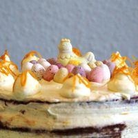 Schoko-Orangen Torte mit Mascarpone Creme