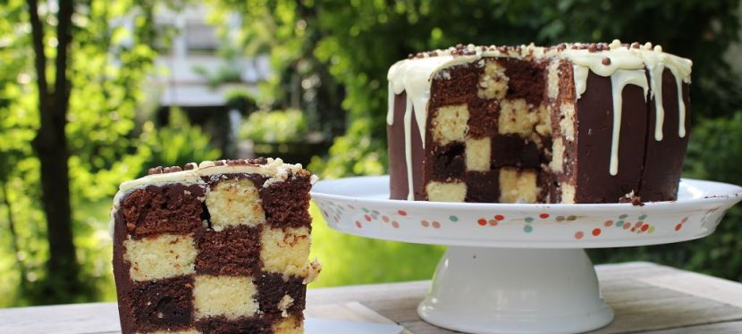 Hidden Design: Chessboard Cake