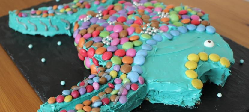 Regenbogenfisch Kuchen (mitVideo)