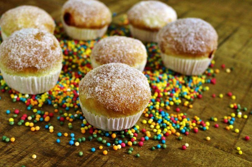 Kreppel Muffins (Berliner aus demBackofen)