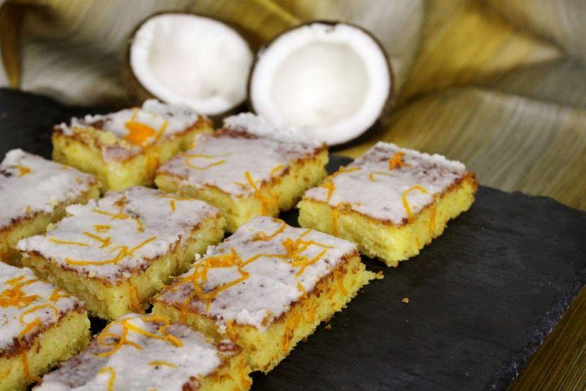 Orangen-Kokoskuchen vom Blech