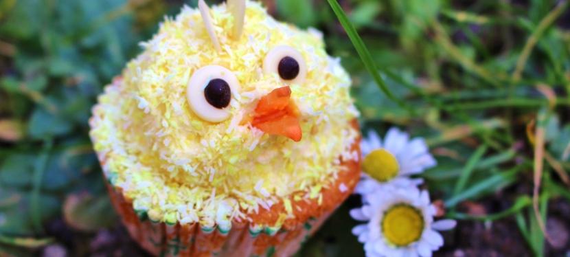 Küken Cupcakes mit Kokos(vegan)