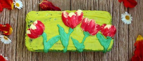 Essbare Schoko-Tulpen sind eine tolle Dekoration.