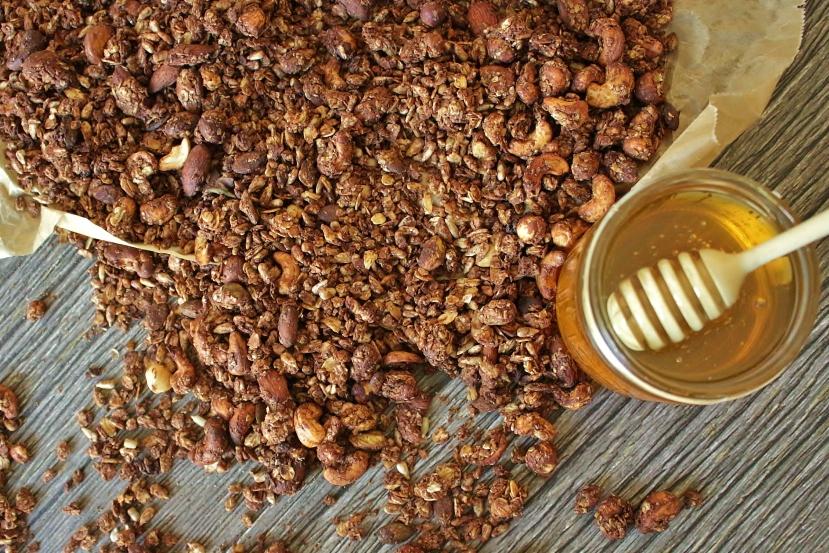 Lisha's Schoko Knuspermüsli(Granola)